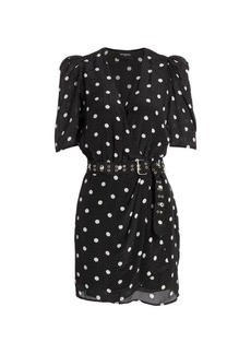The Kooples Polka Dot Wrap Dress