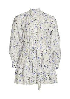 The Kooples Printed High-Neck Dress