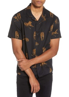 The Kooples Short Sleeve Button-Up Camp Shirt