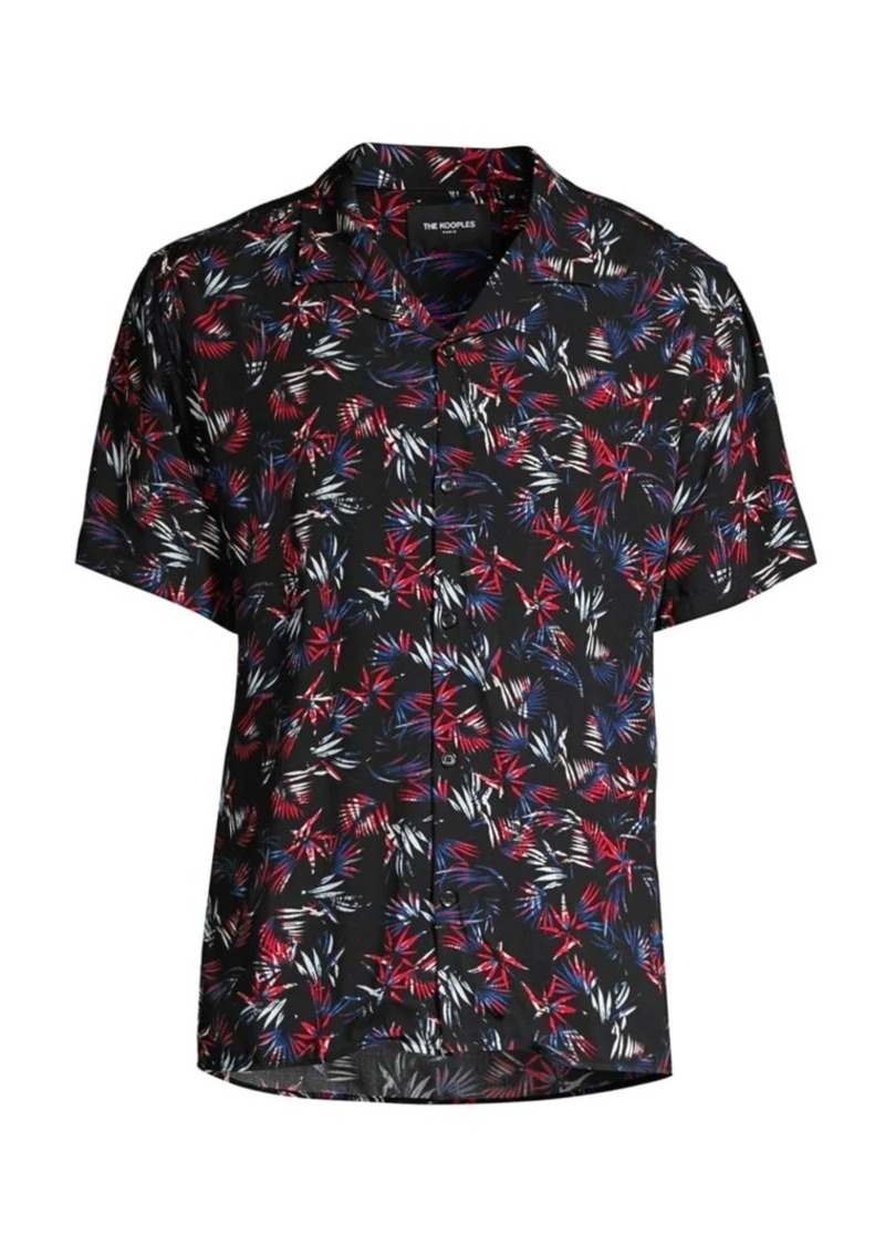 The Kooples Short-Sleeve Multicolor Camp Shirt
