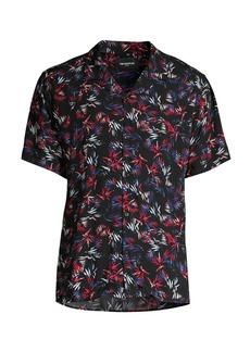 The Kooples Short-Sleeve Multicolor Camp Shirt