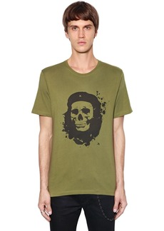 The Kooples Skull Printed Cotton Jersey T-shirt