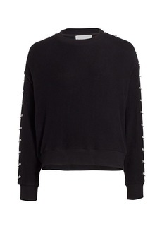 The Kooples Sweet Fleece Ring-Sleeve Sweatshirt