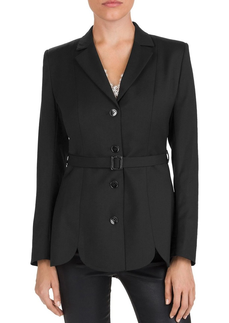 The Kooples Belted Four-Button Wool-Stretch Blazer