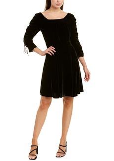 The Kooples Bliss Velvet Silk-Blend A-Line Dress