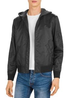 The Kooples Bomber Jacket with Fleece Hood