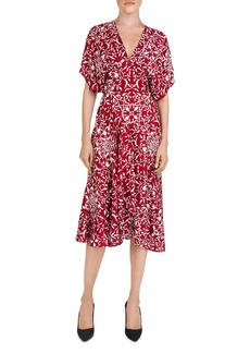 The Kooples Botanical-Print Midi Dress