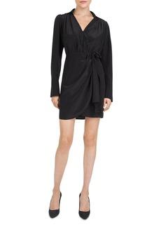 The Kooples Bow-Detail Silk Mini Dress