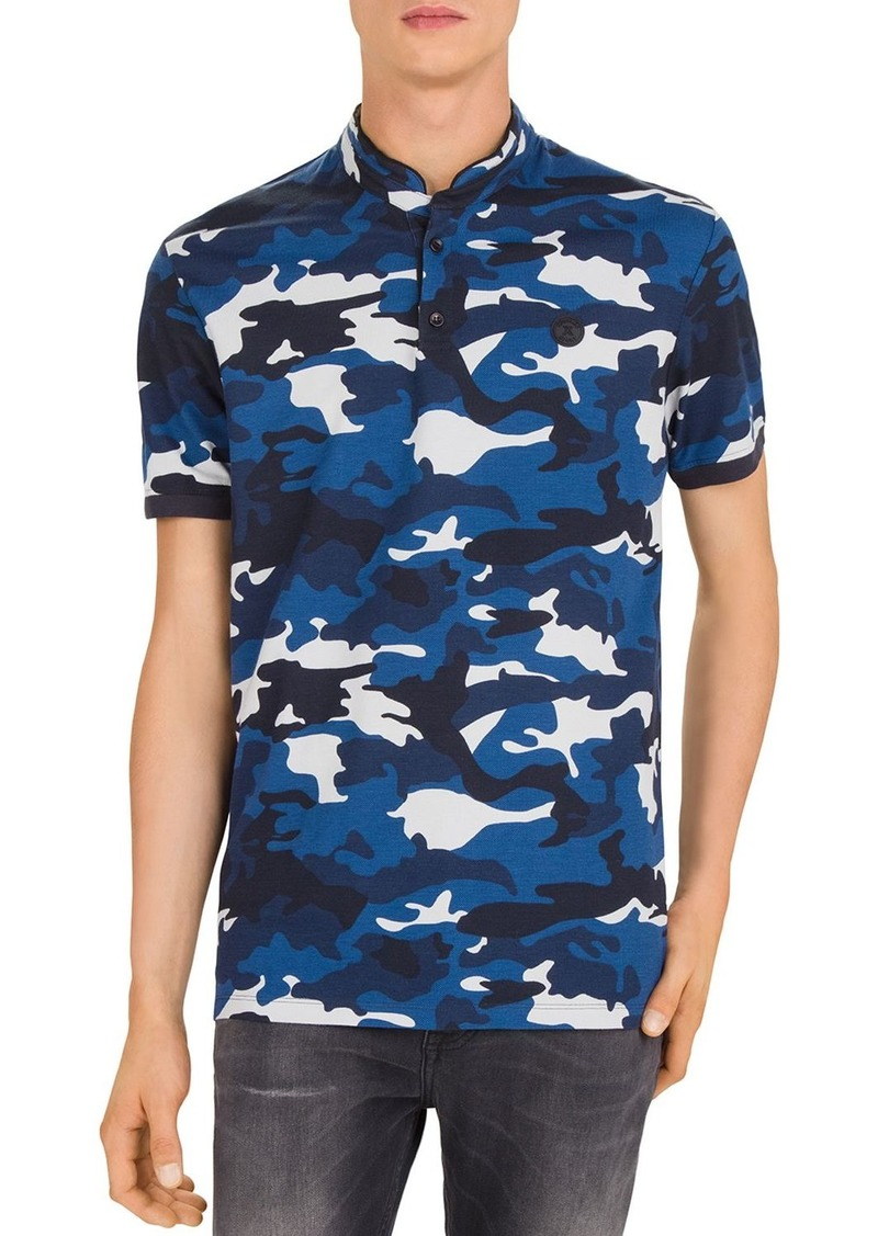 The Kooples Camouflage Piqu� Slim Fit Polo Shirt