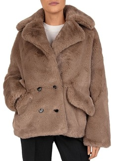 The Kooples Candy Double-Breasted Faux-Fur Coat