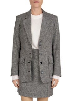 The Kooples Carreman Belted Houndstooth Blazer
