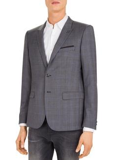 The Kooples Checks Super 120's Wool Slim Fit Blazer