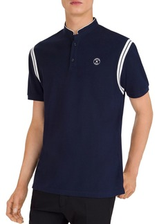 The Kooples Contrast-Stripe Piqu� Regular Fit Polo Shirt