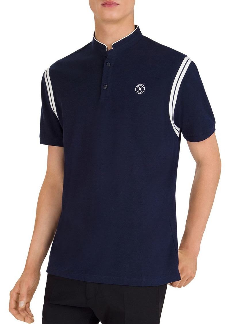 The Kooples Contrast-Stripe Piqu� Regular Fit Polo Shirt