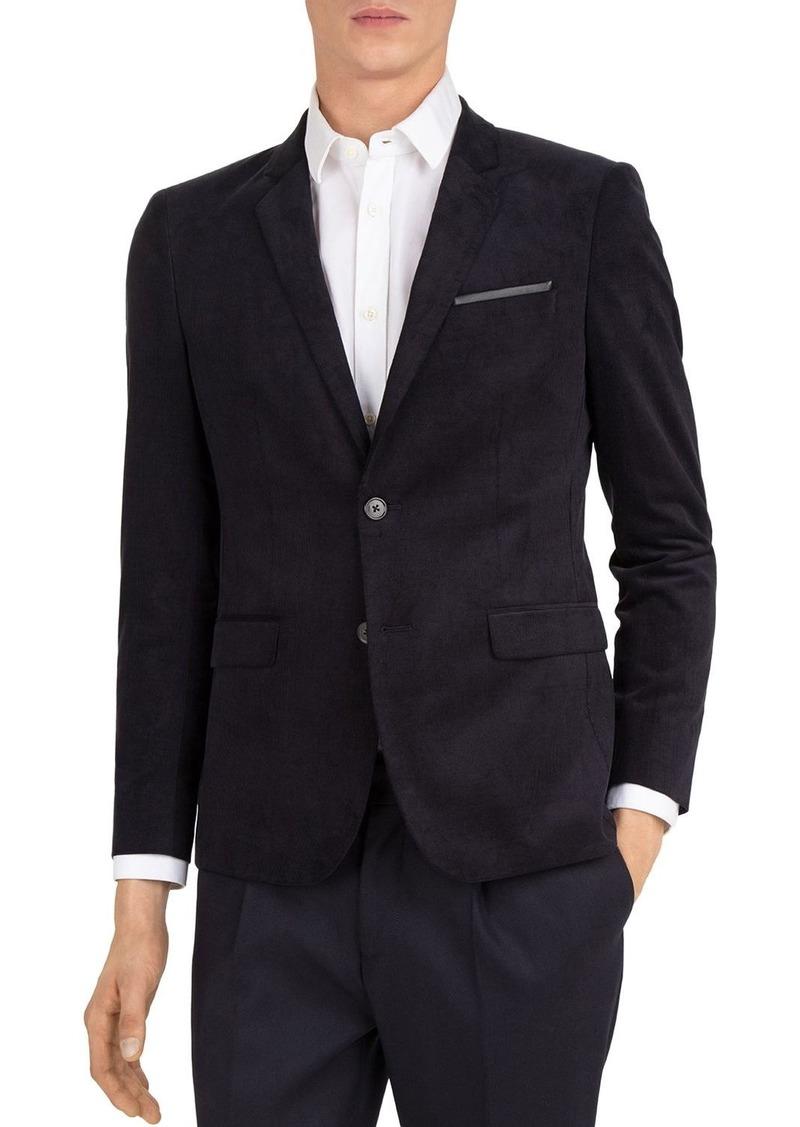 The Kooples Corded Velvet Slim Fit Blazer