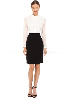 The Kooples Crepe Chiffon & Lace Twofer Dress