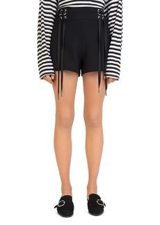 The Kooples Daisy Lace-Up Shorts