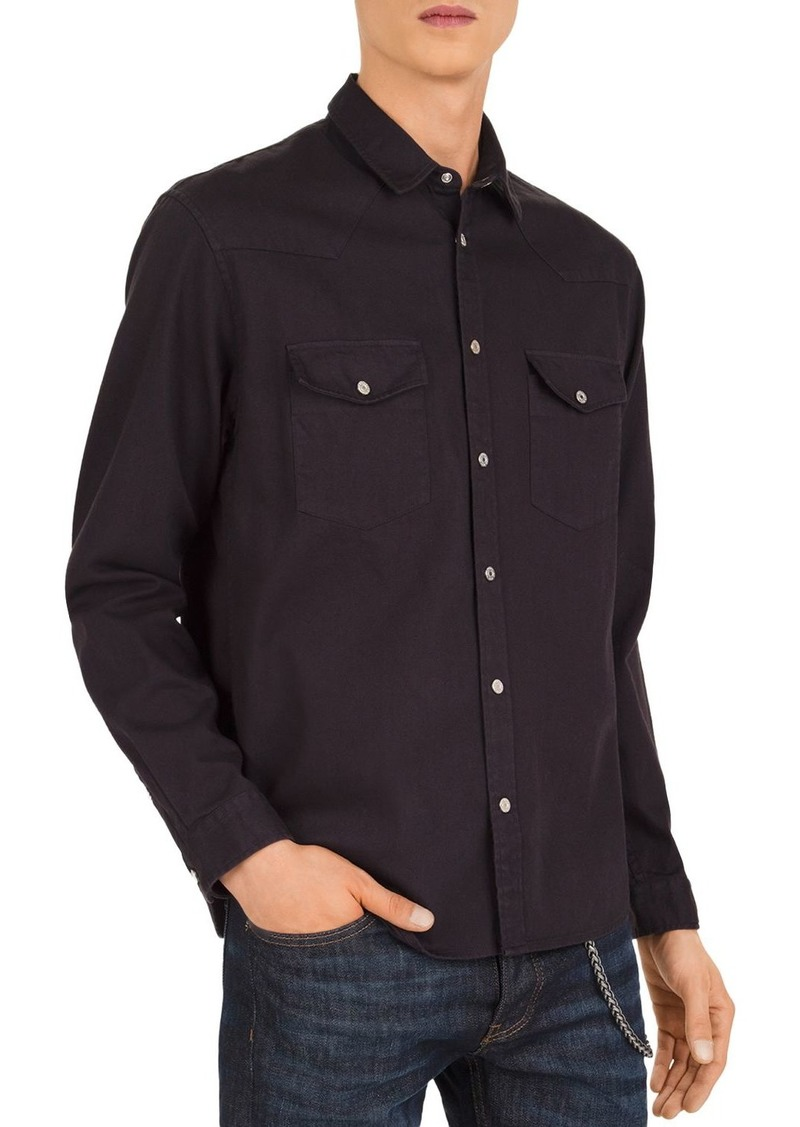 The Kooples Denim Western Slim Fit Button-Down Shirt