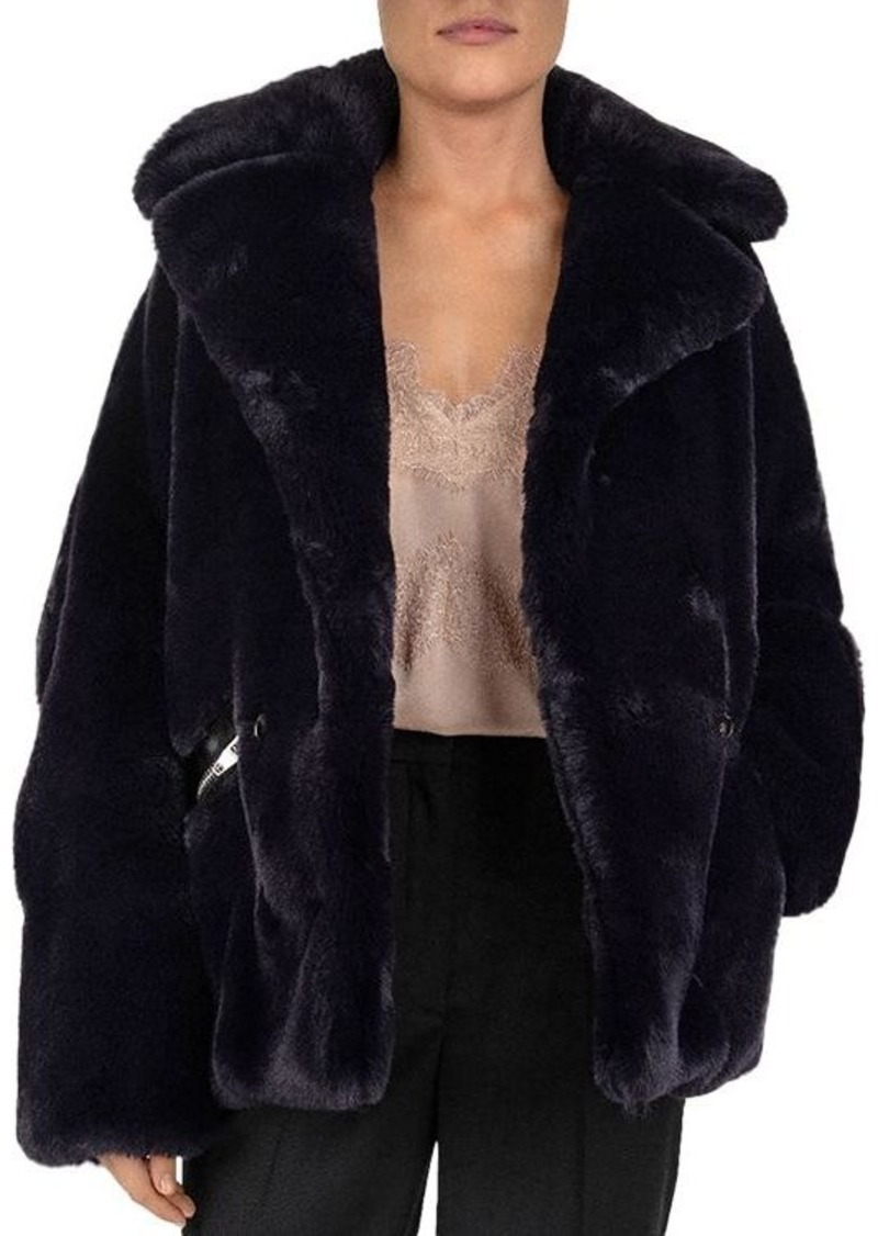 The Kooples Double-Breasted Faux-Fur Coat