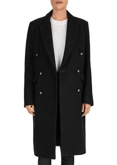 The Kooples Double-Breasted Wool-Blend Coat