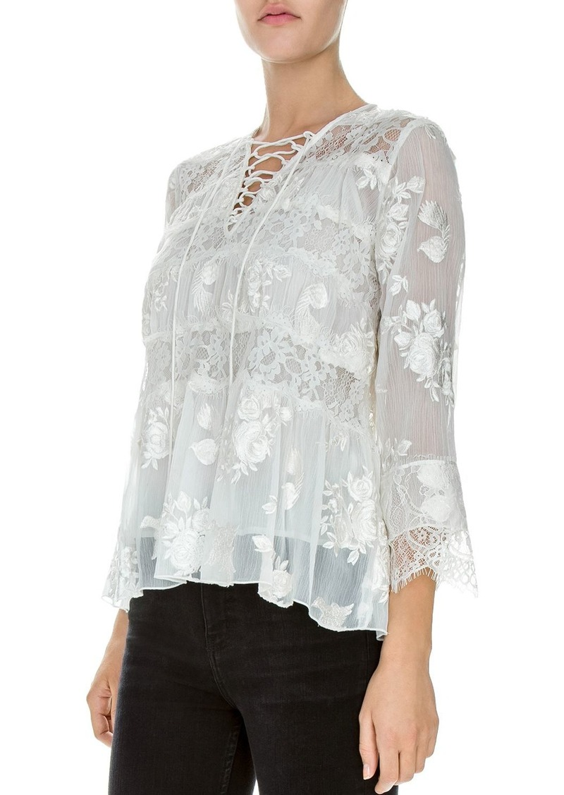 5b738b03967 The Kooples The Kooples Embellished Lace Top | Casual Shirts