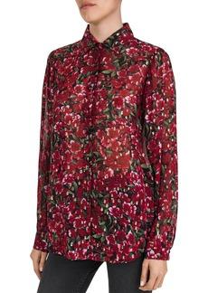 The Kooples Floral Print & Metallic Dot Pattern Shirt