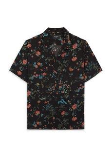 The Kooples Floral Print Regular Fit Button Down Camp Shirt