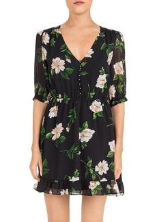 The Kooples Floral-Print Silk Mini Dress