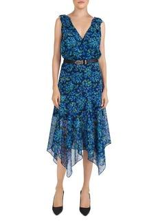 The Kooples Floral-Print Silk Wrap Dress