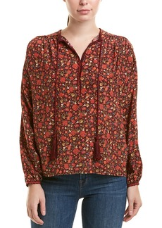 The Kooples Floral Silk Shirt