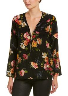 The Kooples Front Zip Silk Shirt