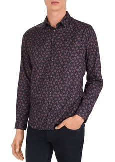 The Kooples Gothic Flowers Slim Fit Button-Down Shirt