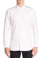 The Kooples Grosgrain Contrast Shoulder Shirt