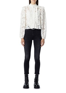 The Kooples High Neck Lace Blouse