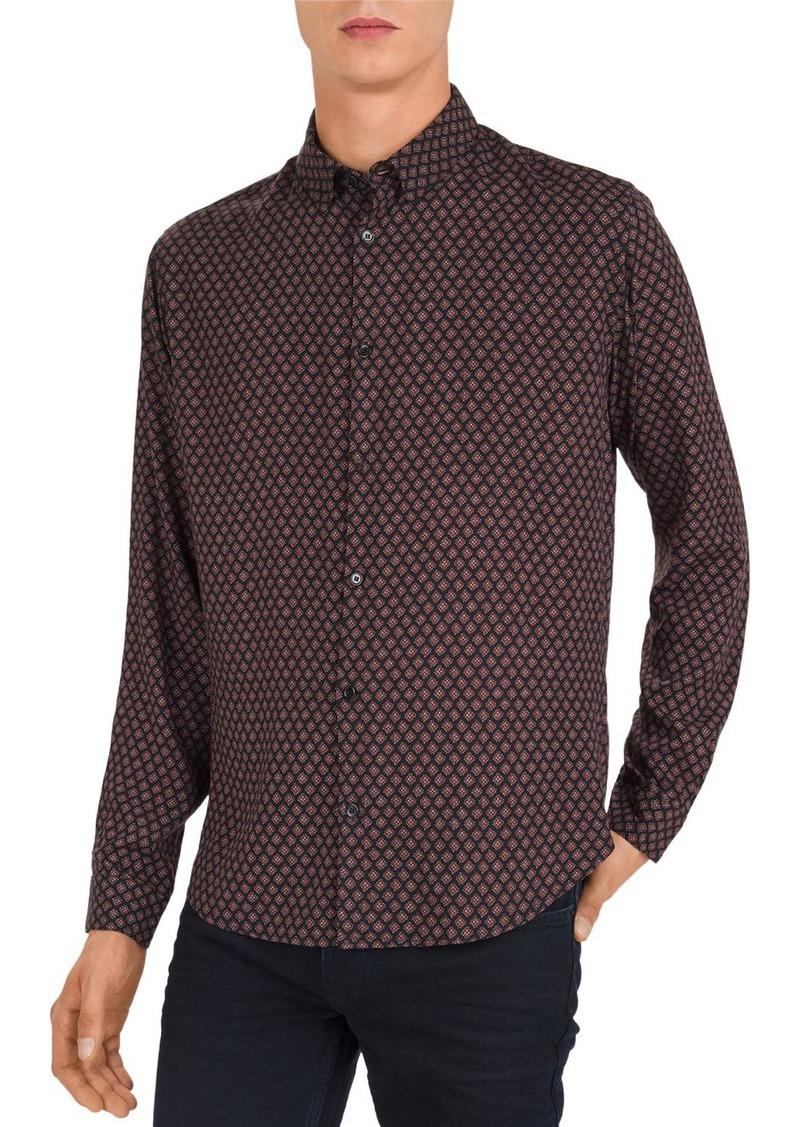 The Kooples Hippie Diamonds Slim Fit Shirt