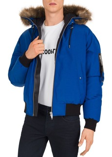 The Kooples Hooded Down Bomber Jacket