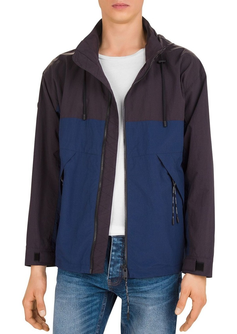 The Kooples Impermeable Two-Tone Hooded Jacket