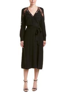 The Kooples Lace-Insert Silk Shift Dress