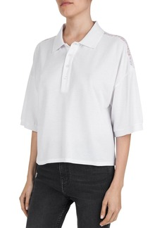 The Kooples Lace-Inset Piqu� Polo Shirt