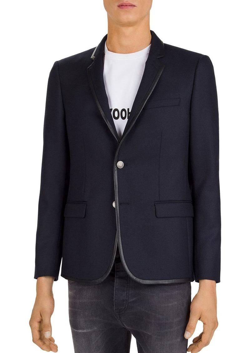 The Kooples Leather-Trim Blazer