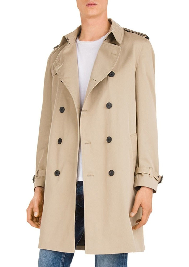 The Kooples Lemal Belted Double-Breasted Coat