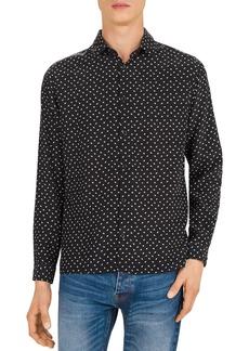 The Kooples Lightning Party Silk Regular Fit Shirt