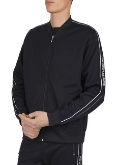 The Kooples Logo-Embroidered Front-Zip Jacket