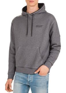 The Kooples Logo Fleece Drawstring Hoodie
