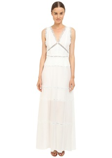 The Kooples Long Dress in A Cotton Blend and Lace