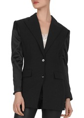 The Kooples Marta Crepe & Satin Blazer