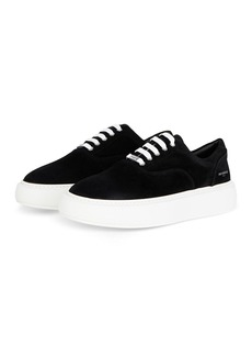 The Kooples Men's Black Contrast Sole Lace Up Sneakers