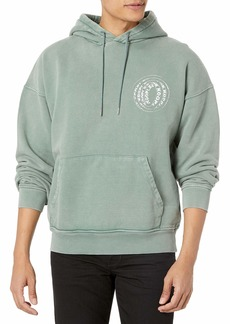 The Kooples Men's Faded  Hooded Sweatshirt with Graphic Extra Large