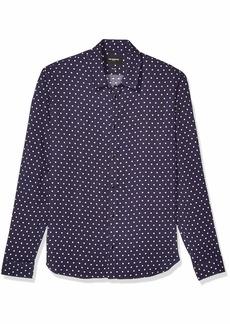 The Kooples Men's Men's Classic Button-Down Shirt Polka Dot Print Navy/Off-White