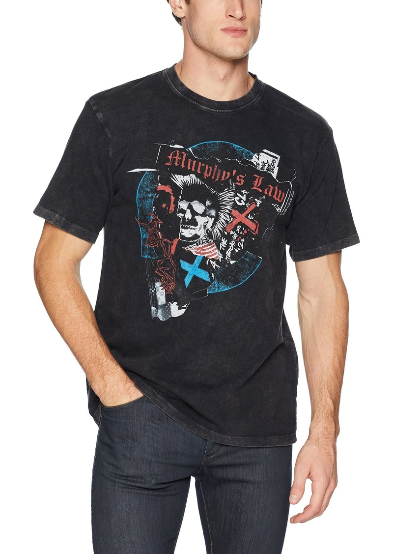 The Kooples Men's Men's Cotton Graphic t-Shirt with Skull and Punk Rock Print  XL